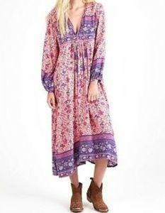 Topshop Floral Boho Maxi Dress (Spell Gypsy) sz 6